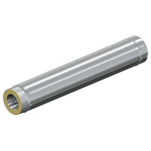 Сэндвич - труба 1000 мм   120 мм, AISI 321 0,5 мм, Оцинковка 0,5 мм, 35 мм