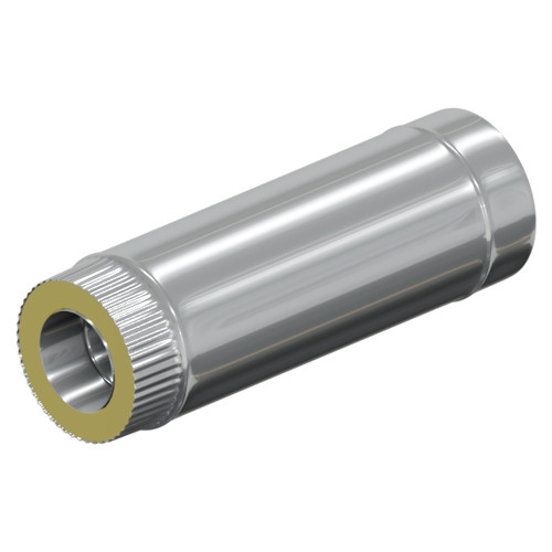 Сэндвич - труба 500 мм  35 мм, 120 мм, Оцинковка, Оцинковка, 0,5 мм