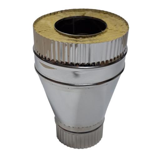Переход моно - термо 35 мм, 100 мм, AISI 321, AISI 430, 0,8 мм