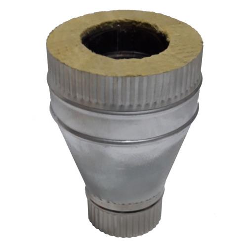 Переход моно - термо 50 мм, 150 мм, AISI 321, Оцинковка, 0,8 мм