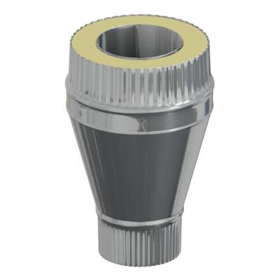 Переход моно - термо 50 мм, 160 мм, AISI 321, Оцинковка, 0,5 мм