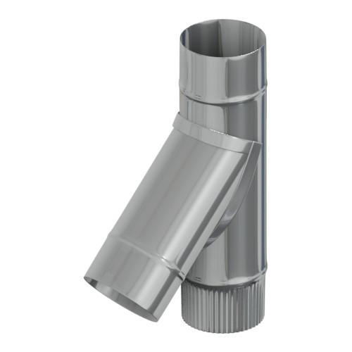 Тройник 45° нержавейка 200 мм, AISI 430, 0,8 мм