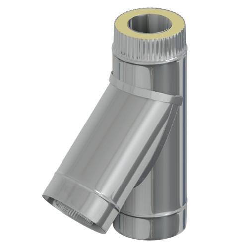 Сэндвич тройник 45° 50 мм, 100 мм, AISI 304, Оцинковка, 0,5 мм