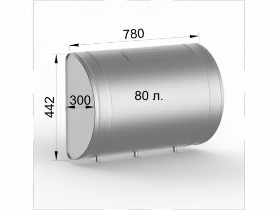 Бак для теплообменника, 60л, 70л, 80л, AISI 439/0,8мм, горизонтальный 80 литров