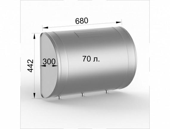 Бак для теплообменника, 60л, 70л, AISI 439/0,8мм, вертикальный 70 литров