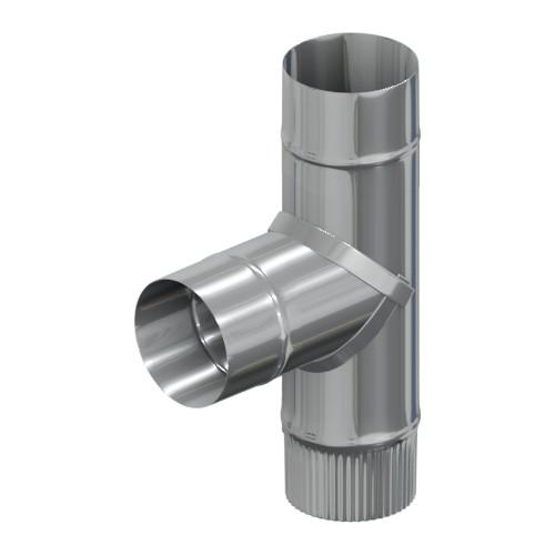 Тройник 90° 100 мм, Оцинковка, 0,5 мм