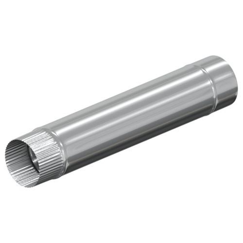 Моно труба 625 мм 100 мм, Оцинковка, 0,5 мм