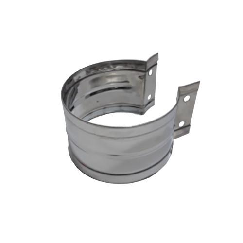 Хомут стяжной для моно труб 115 мм, AISI 430, 0,5 мм